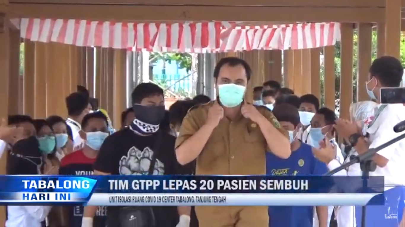 Pelepasan 20 Pasien Sembuh di Unit Isolasi Ruang Covid Center Tabalong